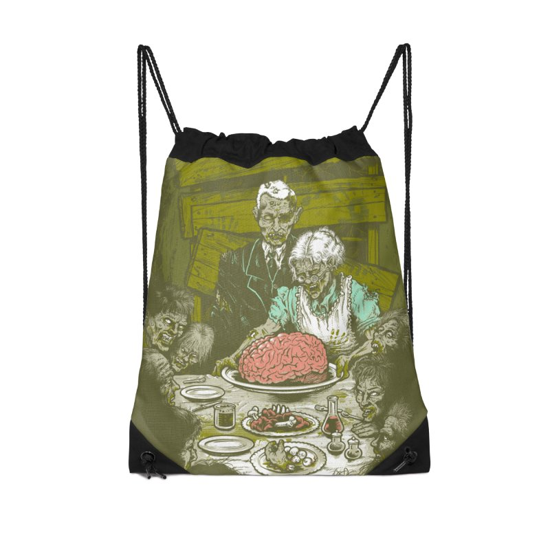 Freedom from Want...of BRAINS Accessories Drawstring Bag Bag by grayehound