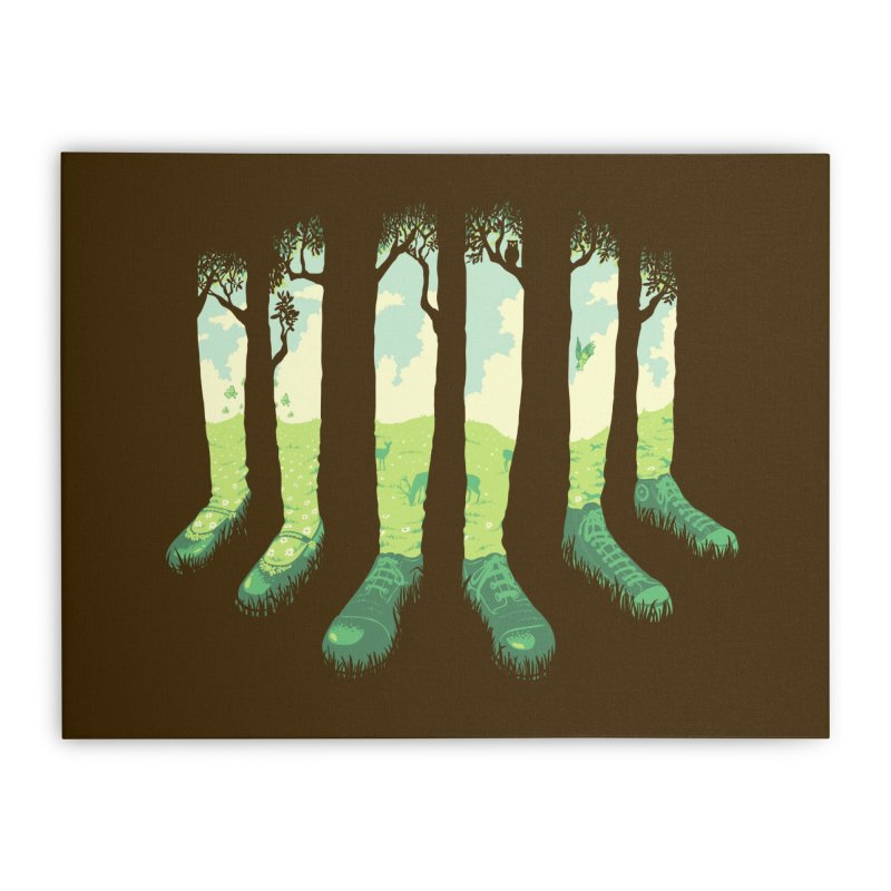 Can't See the Forest But for the Socks in Stretched Canvas by grayehound