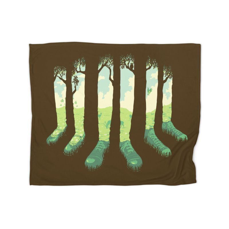 Can't See the Forest But for the Socks Home Fleece Blanket Blanket by grayehound