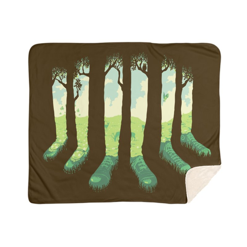 Can't See the Forest But for the Socks Home Sherpa Blanket Blanket by grayehound
