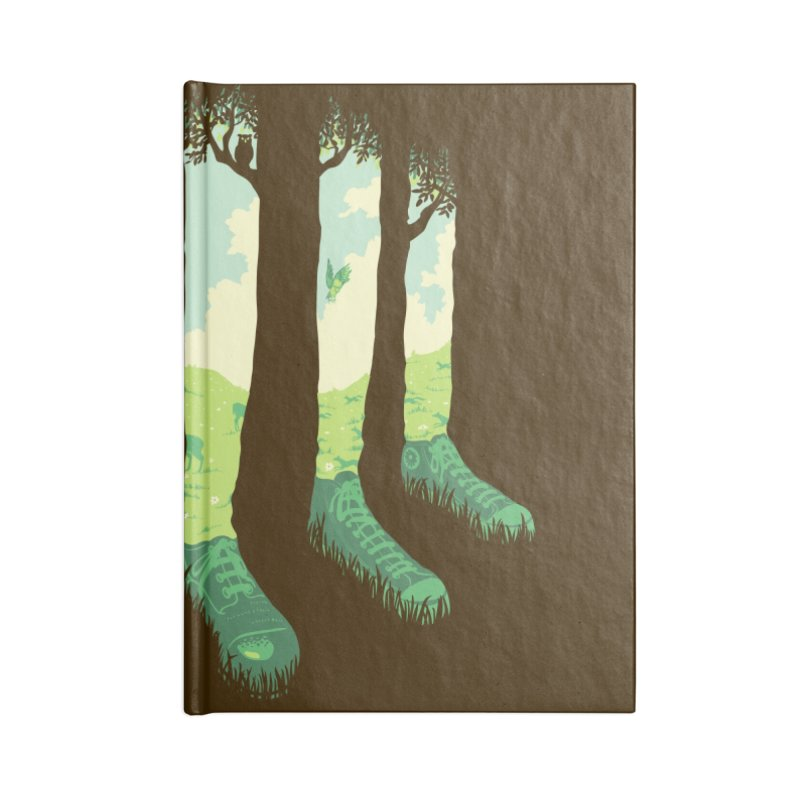 Can't See the Forest But for the Socks Accessories Blank Journal Notebook by grayehound