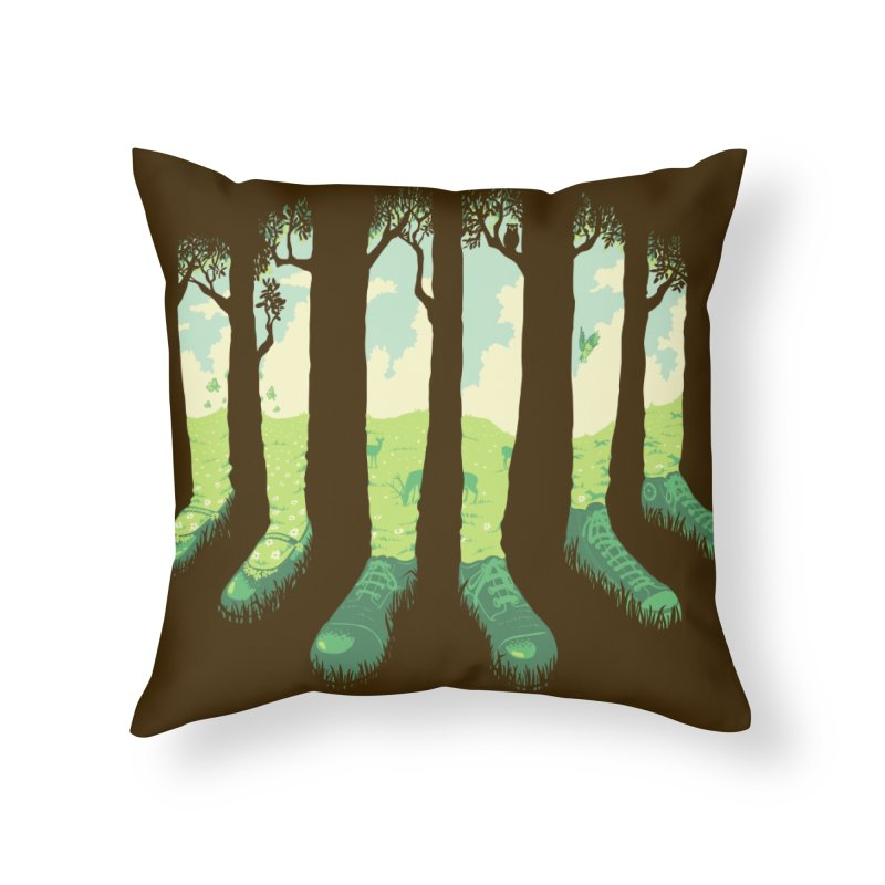 Can't See the Forest But for the Socks Home Throw Pillow by grayehound