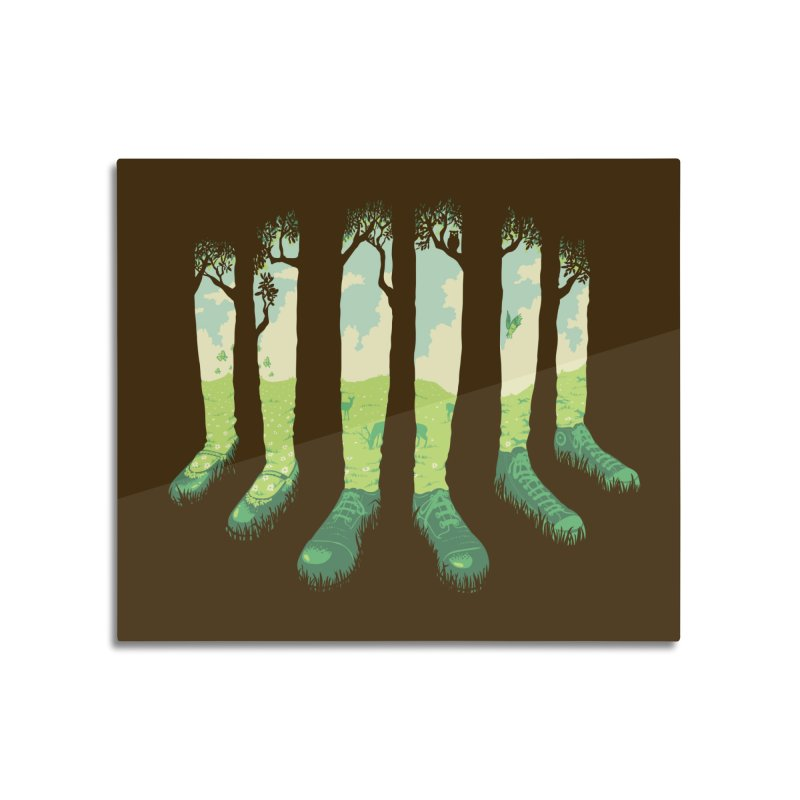 Can't See the Forest But for the Socks Home Mounted Aluminum Print by grayehound