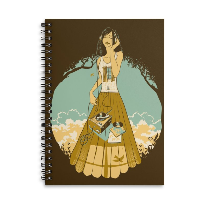 A Room With a View Accessories Lined Spiral Notebook by grayehound