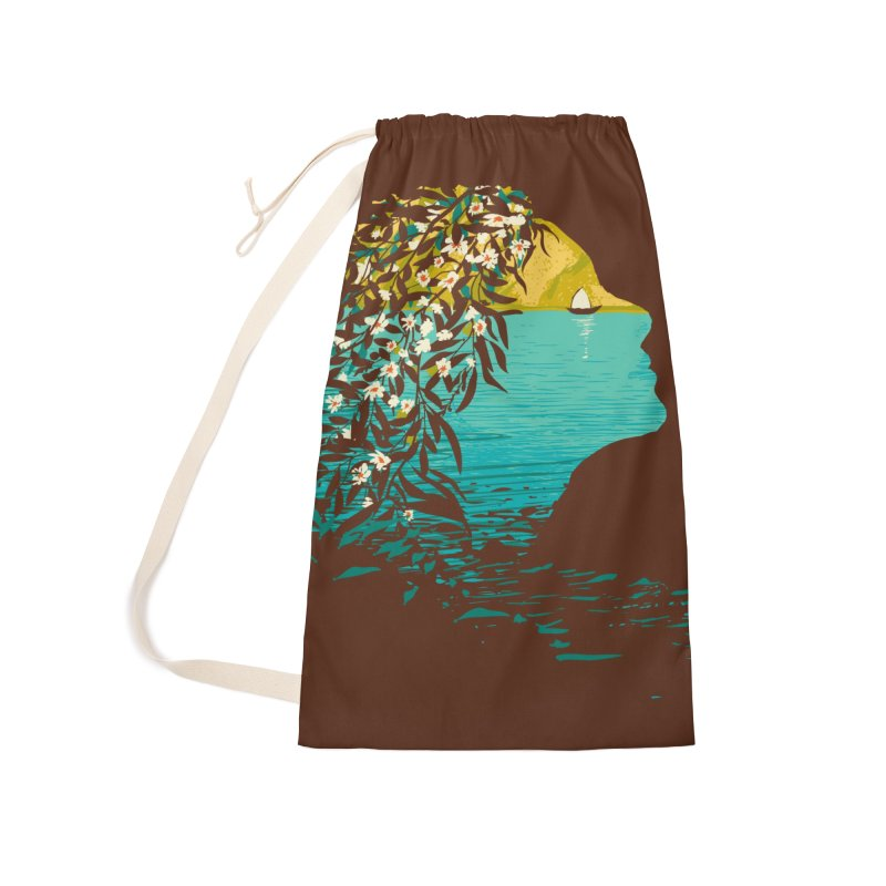 An Island Unto Herself Accessories Laundry Bag Bag by grayehound
