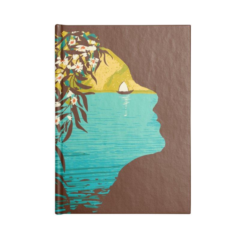 An Island Unto Herself Accessories Blank Journal Notebook by grayehound