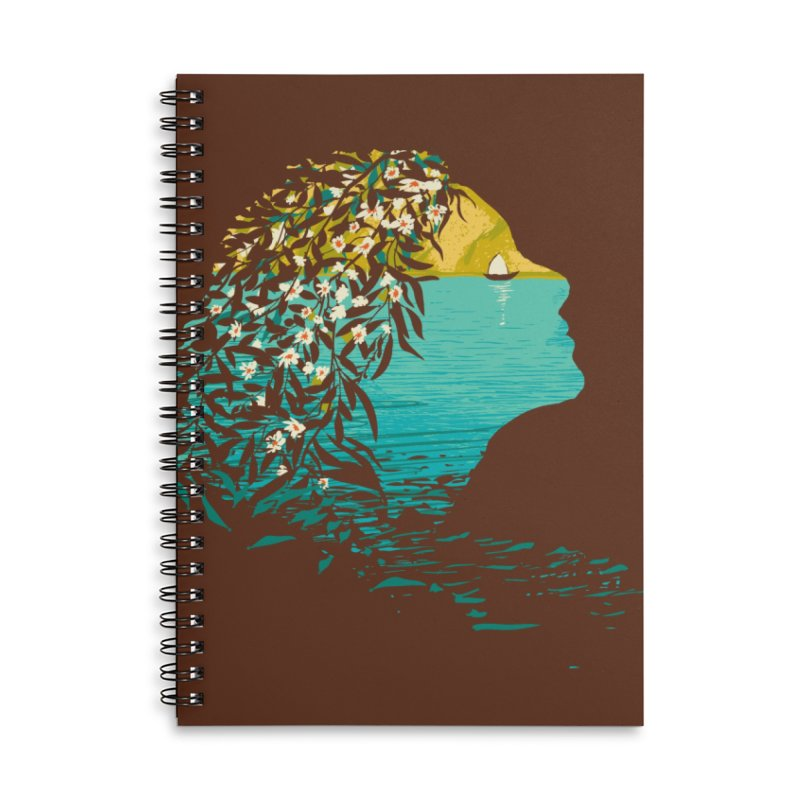 An Island Unto Herself Accessories Lined Spiral Notebook by grayehound