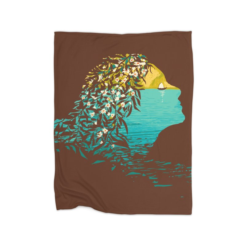 An Island Unto Herself Home Fleece Blanket Blanket by grayehound