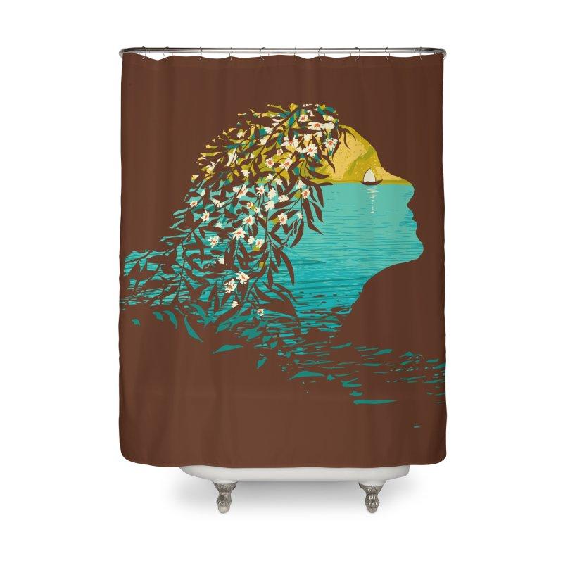 An Island Unto Herself Home Shower Curtain by grayehound