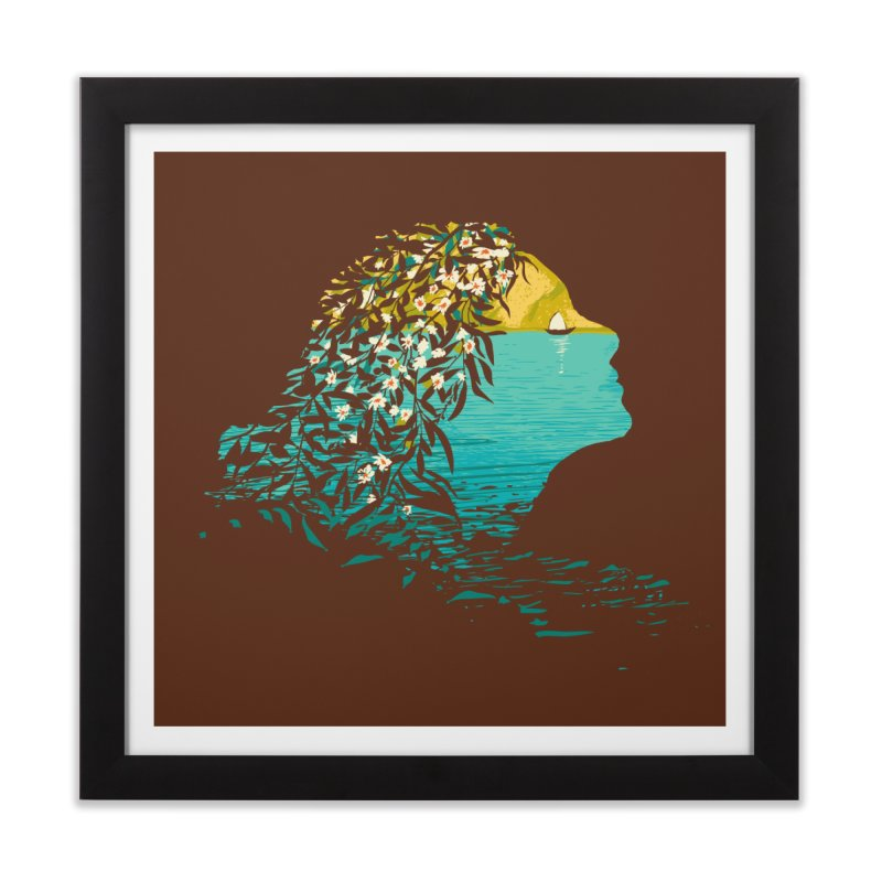 An Island Unto Herself Home Framed Fine Art Print by grayehound