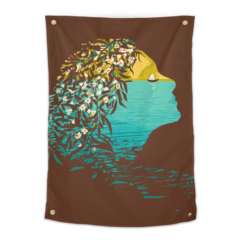 An Island Unto Herself Home Tapestry by grayehound