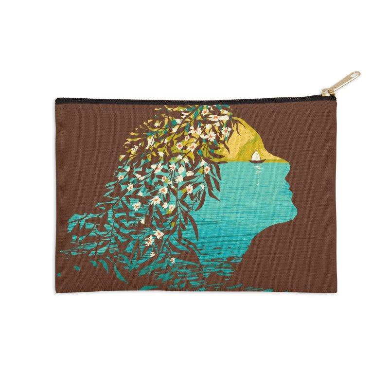 An Island Unto Herself Accessories Zip Pouch by grayehound