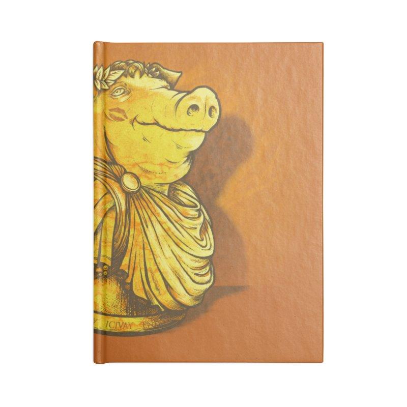Pig Latin Accessories Blank Journal Notebook by grayehound