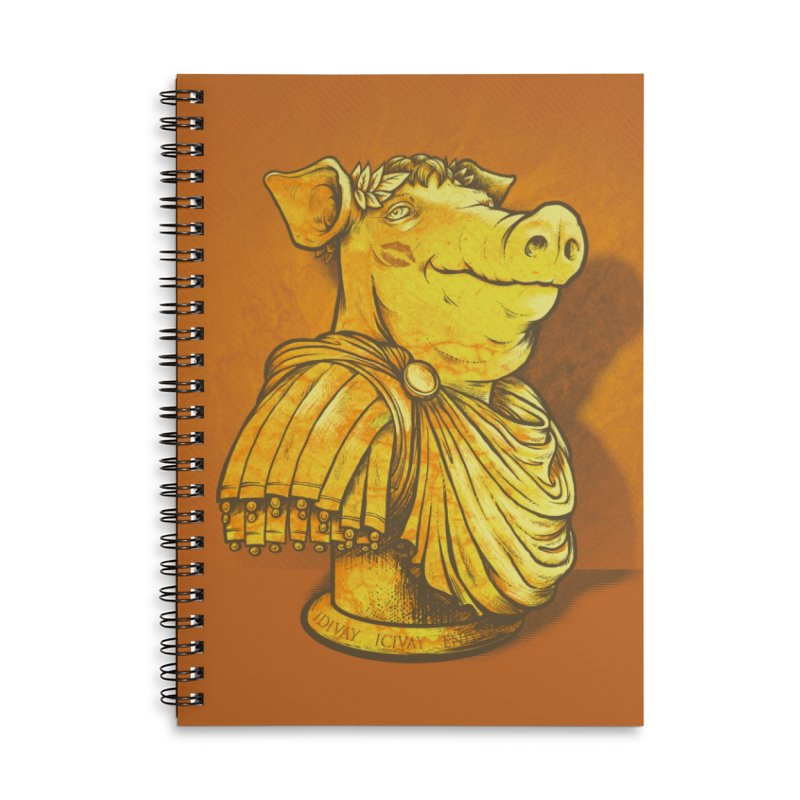 Pig Latin Accessories Lined Spiral Notebook by grayehound