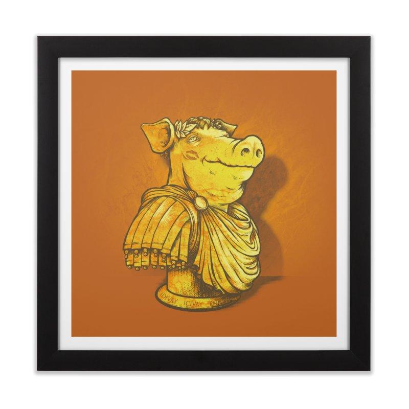 Pig Latin Home Framed Fine Art Print by grayehound
