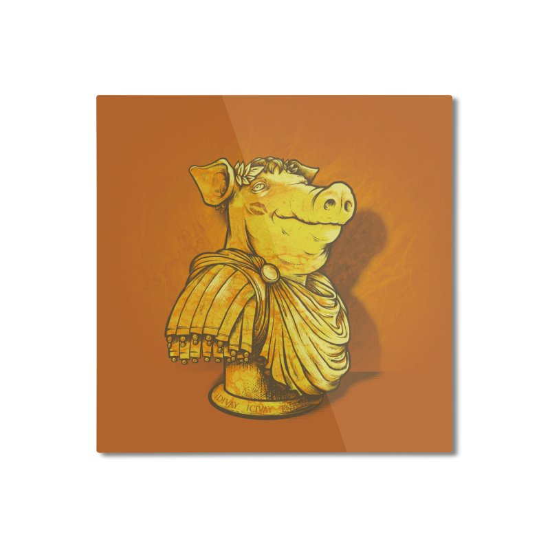 Pig Latin Home Mounted Aluminum Print by grayehound