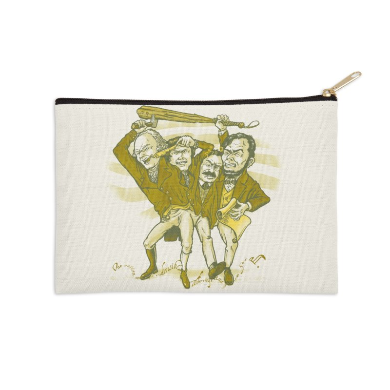 The Indivisible Man Accessories Zip Pouch by grayehound