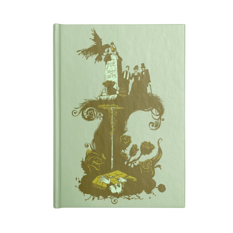 POEtic Irony Accessories Lined Journal Notebook by grayehound