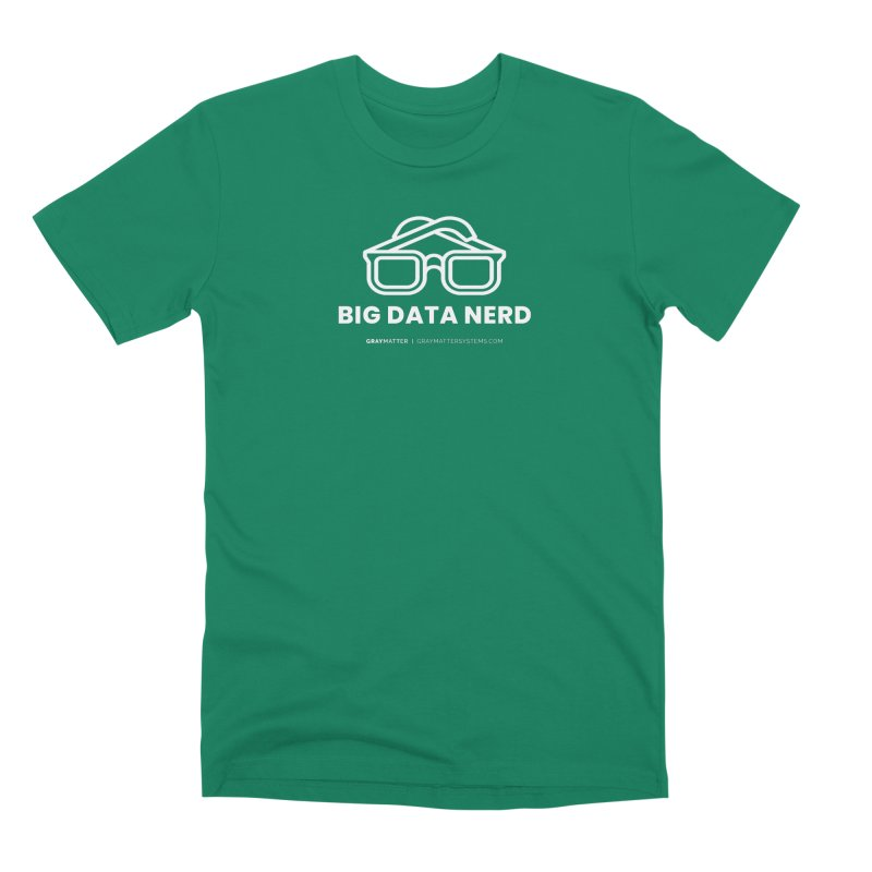 Big Data Nerd in Men's Premium T-Shirt Evergreen by graymattermerch's Artist Shop