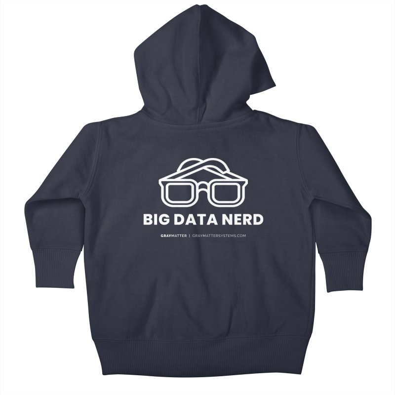 Big Data Nerd Kids Baby Zip-Up Hoody by graymattermerch's Artist Shop