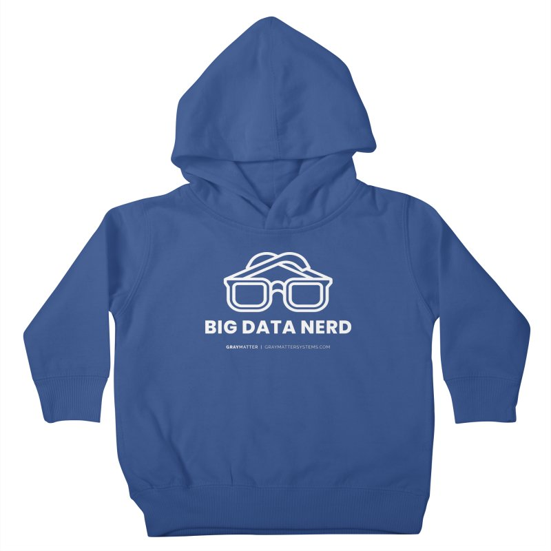 Big Data Nerd Kids Toddler Pullover Hoody by graymattermerch's Artist Shop