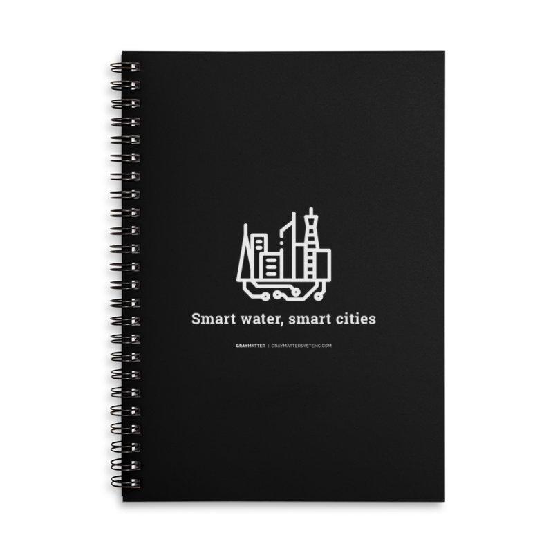 Smart Water, Smart Cities Accessories Notebook by graymattermerch's Artist Shop