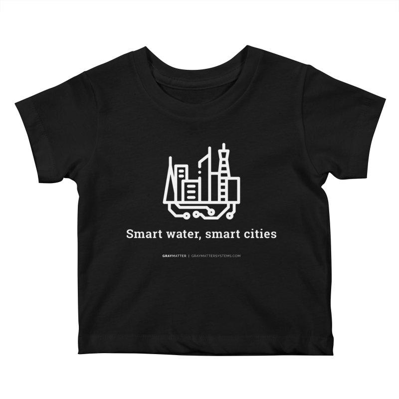Smart Water, Smart Cities Kids Baby T-Shirt by graymattermerch's Artist Shop