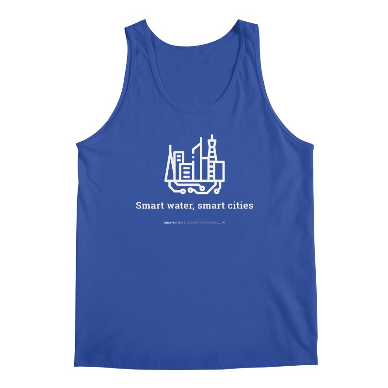 Smart Water, Smart Cities Men's Tank by graymattermerch's Artist Shop