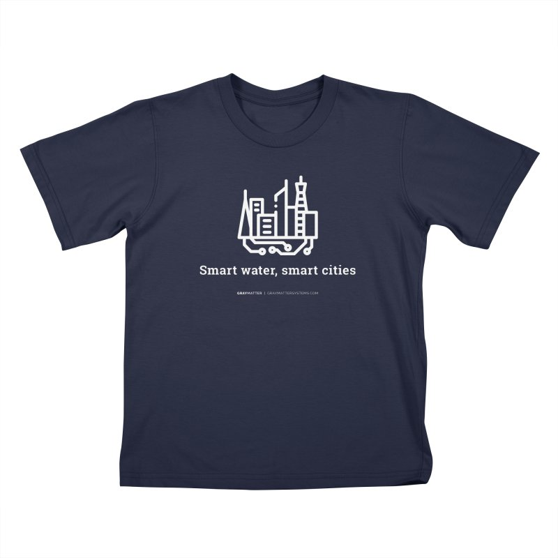 Smart Water, Smart Cities Kids T-Shirt by graymattermerch's Artist Shop
