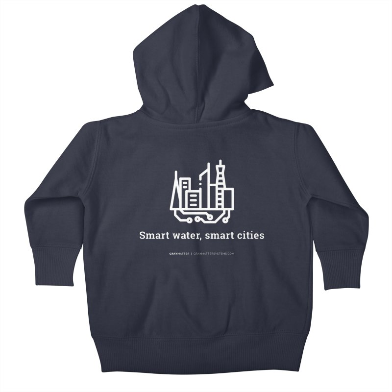Smart Water, Smart Cities Kids Baby Zip-Up Hoody by graymattermerch's Artist Shop
