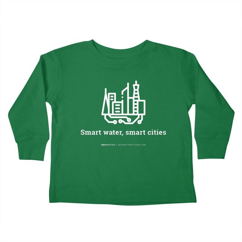 Smart Water, Smart Cities Kids Toddler Longsleeve T-Shirt by graymattermerch's Artist Shop
