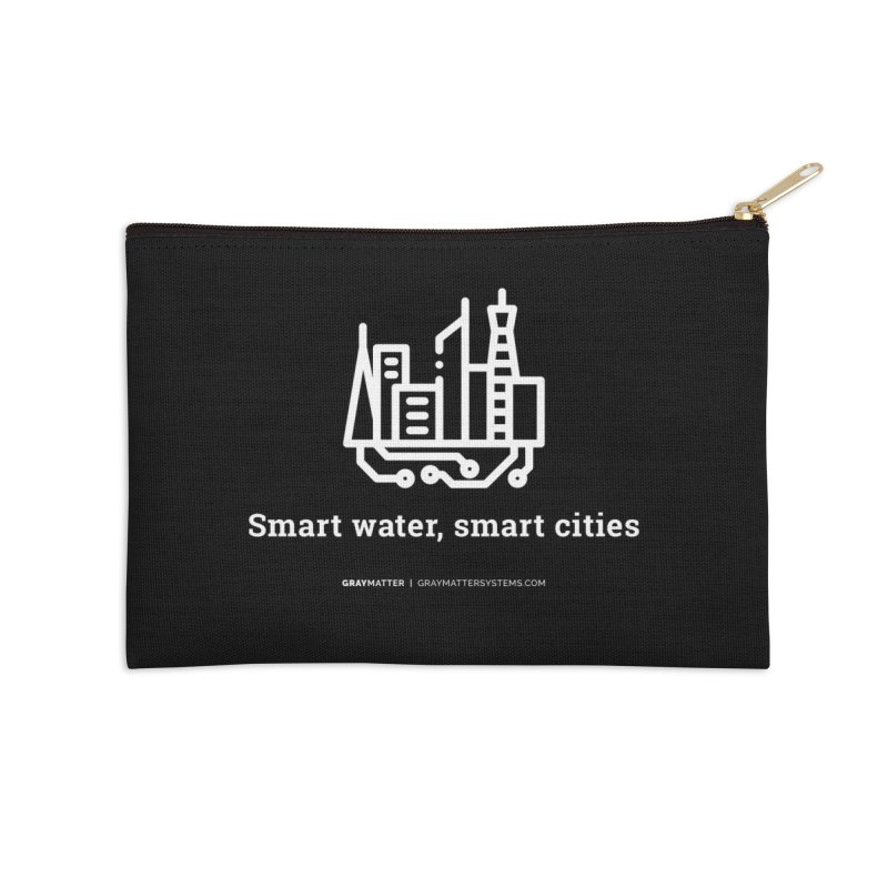 Smart Water, Smart Cities Accessories Zip Pouch by graymattermerch's Artist Shop