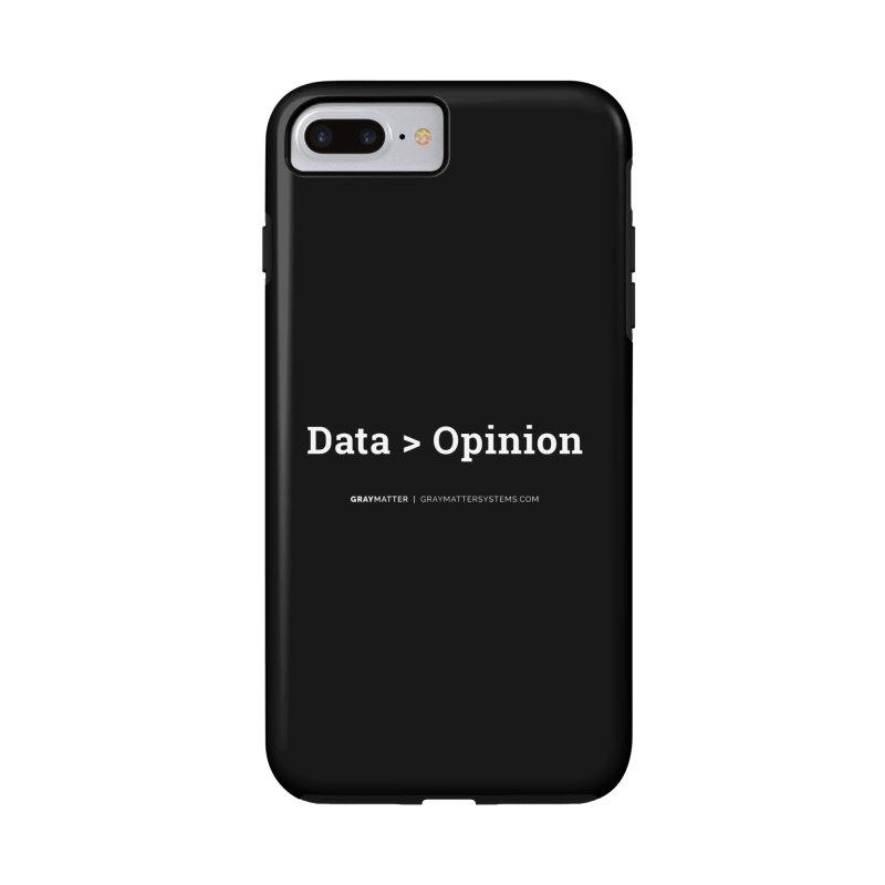 Data > Opinion Accessories Phone Case by graymattermerch's Artist Shop