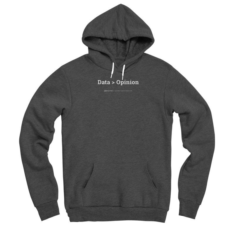 Data > Opinion Men's Pullover Hoody by graymattermerch's Artist Shop