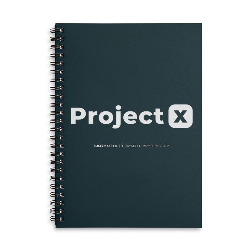 ProjectX Accessories Notebook by graymattermerch's Artist Shop