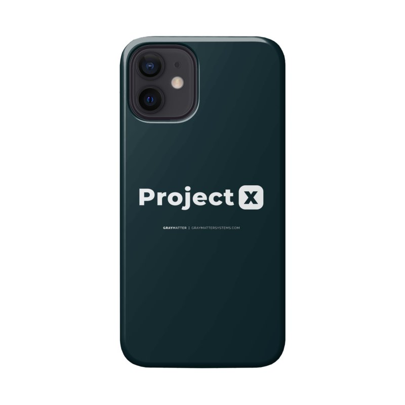 ProjectX Accessories Phone Case by graymattermerch's Artist Shop
