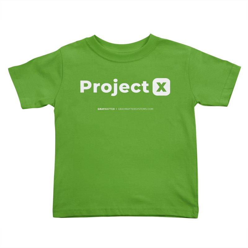 ProjectX Kids Toddler T-Shirt by graymattermerch's Artist Shop