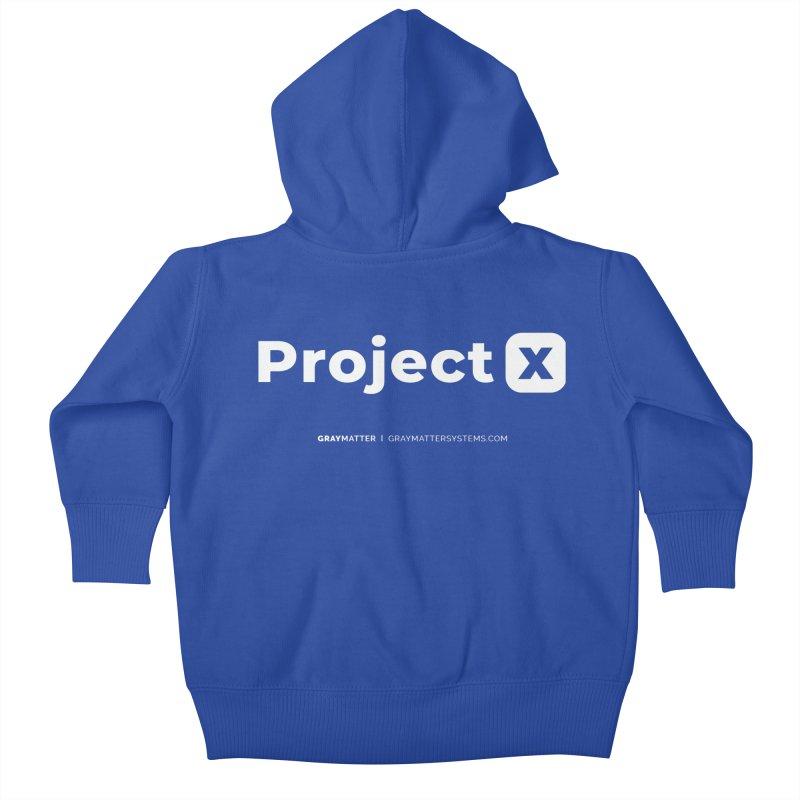 ProjectX Kids Baby Zip-Up Hoody by graymattermerch's Artist Shop