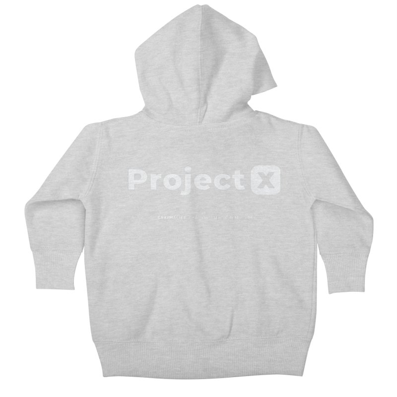 ProjectX Kids Baby Zip-Up Hoody by graymattermerch's Artist Shop