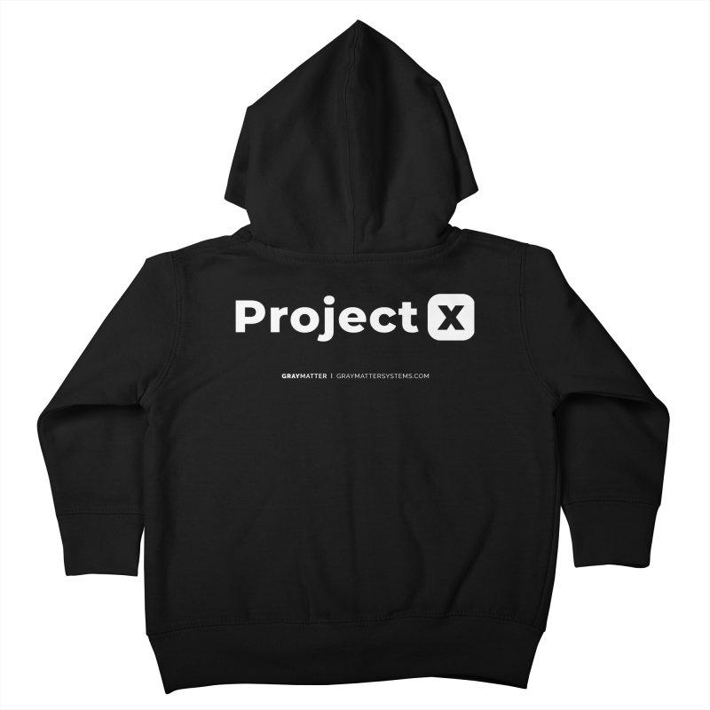 ProjectX Kids Toddler Zip-Up Hoody by graymattermerch's Artist Shop
