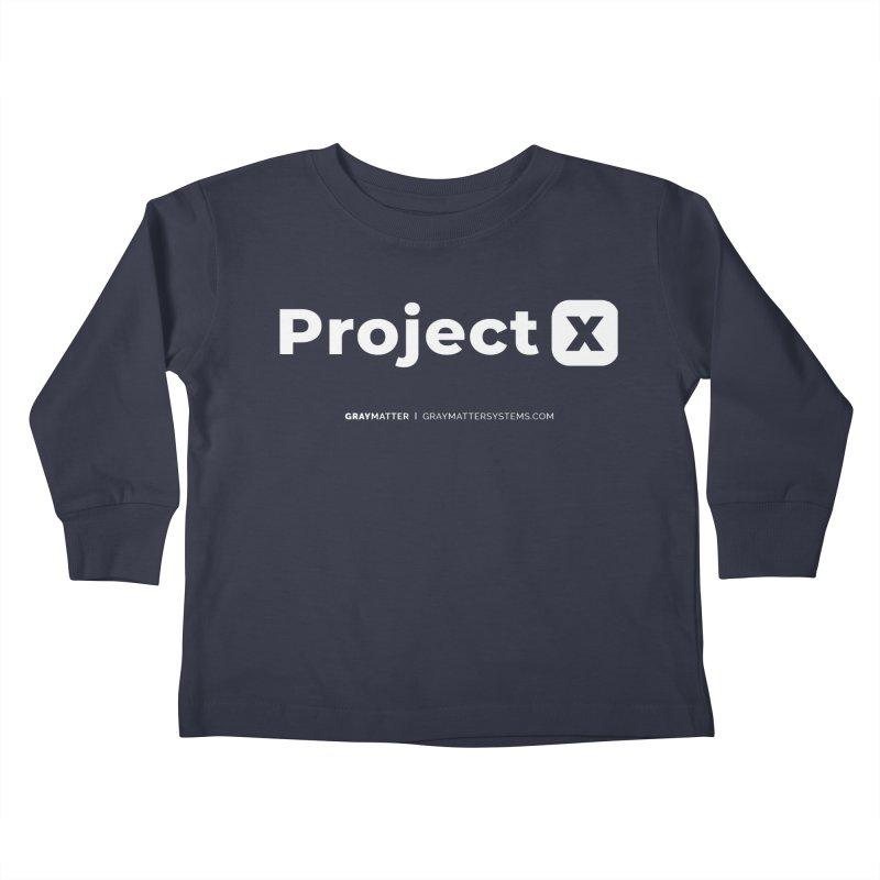ProjectX Kids Toddler Longsleeve T-Shirt by graymattermerch's Artist Shop
