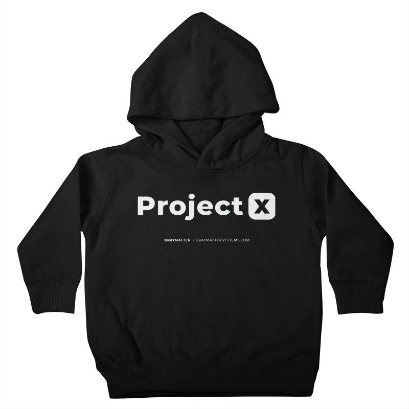ProjectX Kids Toddler Pullover Hoody by graymattermerch's Artist Shop