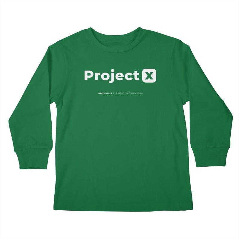 ProjectX Kids Longsleeve T-Shirt by graymattermerch's Artist Shop