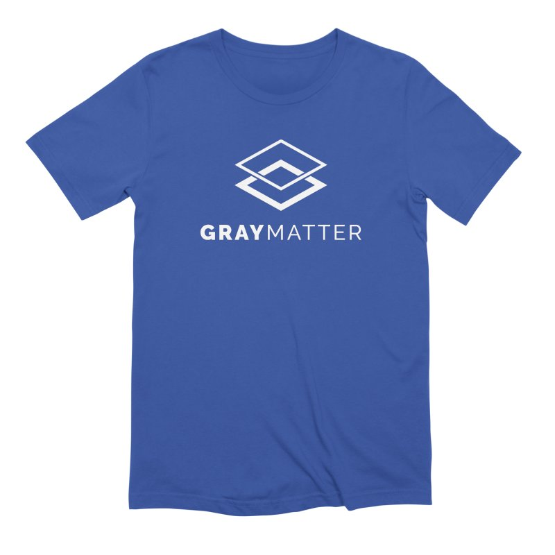 GrayMatter in Men's Extra Soft T-Shirt Royal Blue by graymattermerch's Artist Shop