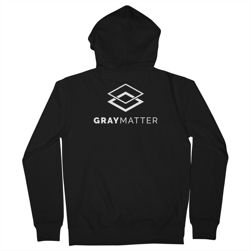 GrayMatter Men's Zip-Up Hoody by graymattermerch's Artist Shop