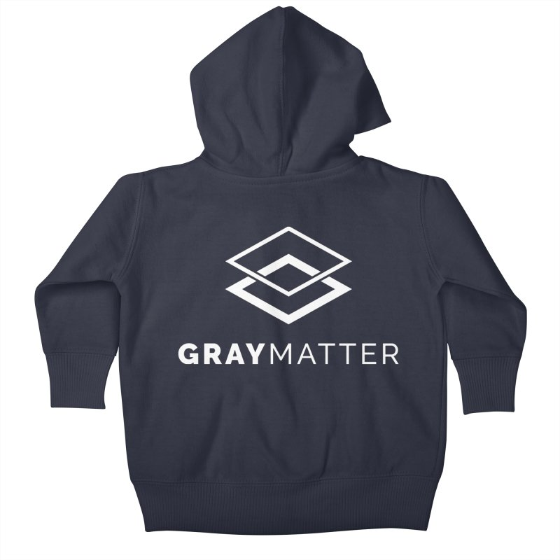 GrayMatter Kids Baby Zip-Up Hoody by graymattermerch's Artist Shop