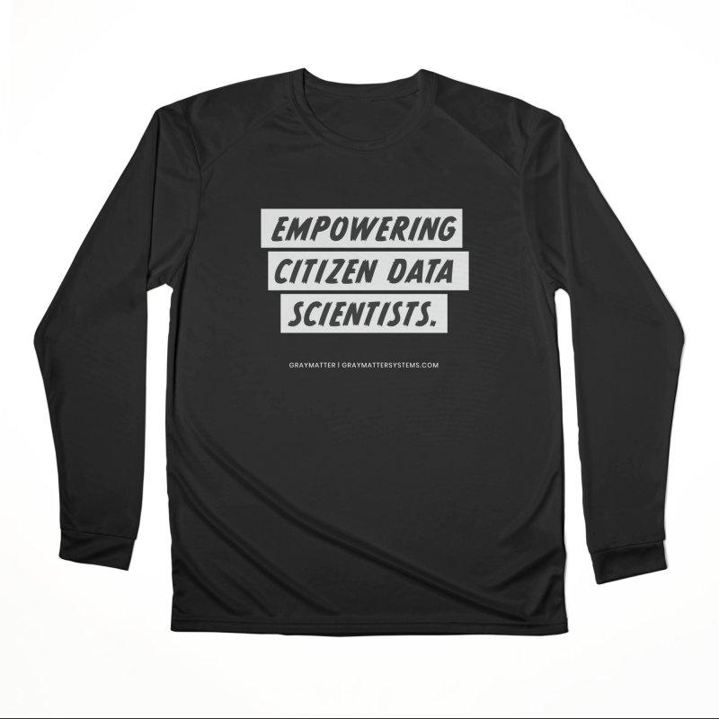 Empowering Citizen Data Scientists Men's Longsleeve T-Shirt by graymattermerch's Artist Shop