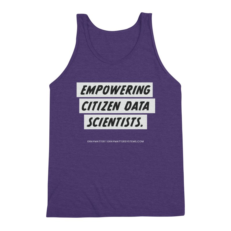 Empowering Citizen Data Scientists Men's Tank by graymattermerch's Artist Shop