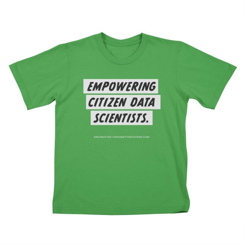 Empowering Citizen Data Scientists Kids T-Shirt by graymattermerch's Artist Shop