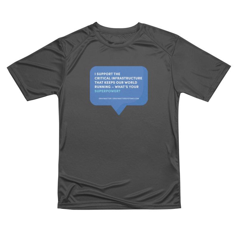 I Support the Critical Infrastructure That Keeps Our World Running Men's T-Shirt by graymattermerch's Artist Shop